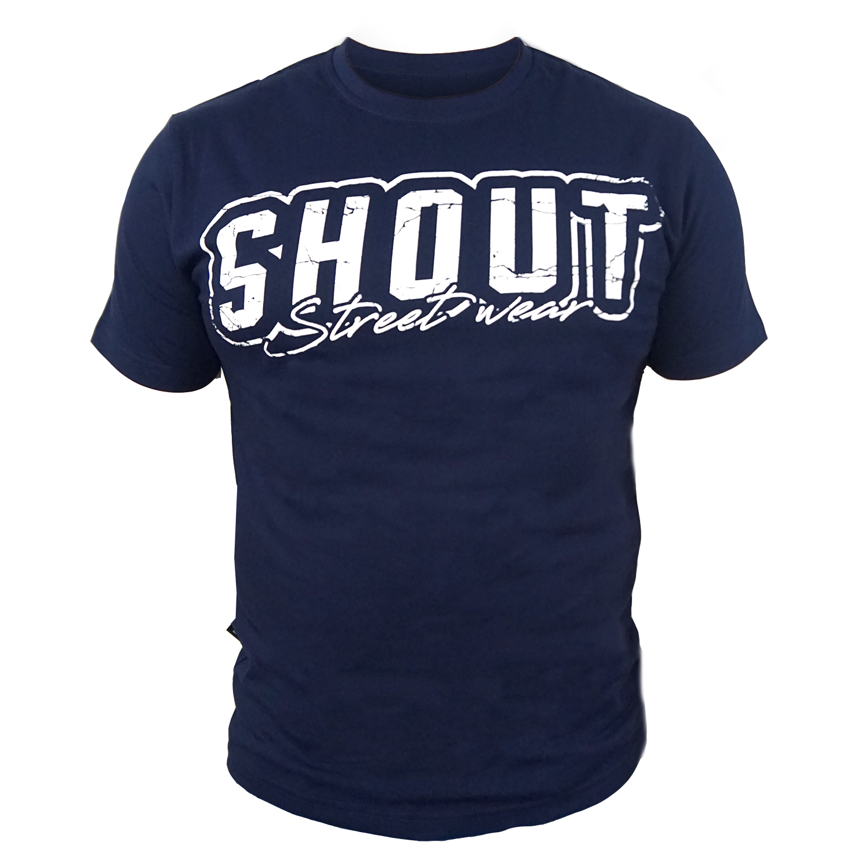 SHOUT T-SHIRT NAVY BLUE STREET WEAR